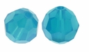 Caribbean Blue Opal 5000 4mm Round Crystal Beads (10PK)