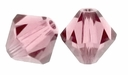 Antique Pink 5328 4mm Swarvoski Crystal Xilion Bicone Beads (10PK)