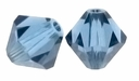 Denim Blue 5328 4mm Swarvoski Crystal Xilion Bicone Beads (10PK)