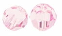 Light Rose Swarovski 5000 6mm Crystal Beads (10PK)