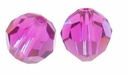 Fuchsia Swarovski 5000 6mm Crystal Beads (10PK)