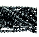Snowflake Obsidian 4mm Round Beads 16 inch Strand