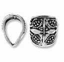 14mm Sterling Silver Filigree Bail (1PC)
