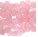 Rose Quartz 8mm Round Beads 16 inch Strand