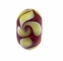 13mm Jonquil  and Amethyst Rondel Lampwork Beads (5PK)