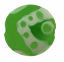 20mm Green with Modern Design Disc Lampwork Beads (5PK)