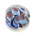 16mm Purple Swirl Lampwork Disc Bead (5 PK)