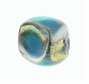 Blue Swirl Lampwork 12mm Round Beads (5 PK)
