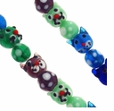 Mixed Cat Lampwork Glass Beads ( 1 Strand)