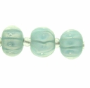 10x12mm Lt. Blue Striped Lampwork Beads (1 strand)