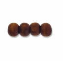 Brown 8mm Round Wood Beads (50PK)