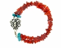 Turquoise on Fire Bracelet