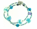 Cool Blue Multi Strand Bracelet