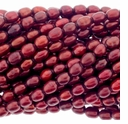 Cranberry Rice Freshwater Pearl 5-6mm Bead Strand