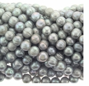 Silver Potato Freshwater Pearl 7-8mm Bead Strand