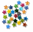 10mm Luster Star Glass Beads Mix (50g)