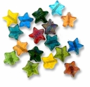 Medium 12mm Mixed Glass Star Beads (50G)