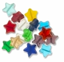Large 15mm Mixed Glass Star Beads  (50G)