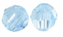 Aquamarine Swarovski 5000 6mm Crystal Beads (10PK)
