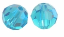 Blue Zircon Swarovski 5000 6mm Crystal Beads (10PK)