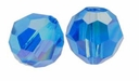 Capri Blue AB Swarovski 5000 6mm Crystal Beads (10PK)