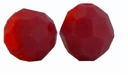 Dark Red Coral Swarovski 5000 6mm Crystal Beads (10 PK)