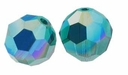 Emerald AB Swarovski 5000 6mm Crystal Beads (10PK)
