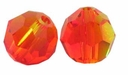 Fire Opal Swarovski 5000 6mm Crystal Beads (10PK)