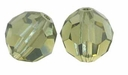 Khaki Swarovski 5000 6mm Crystal Beads (10PK)