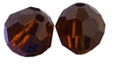 Mocca Swarovski 5000 6mm Crystal Beads (10PK)