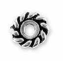 6mm Antique Silver Twist Heishi Spacer Bead (10PK)