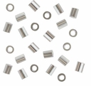 2x2 Sterling Silver Crimp Tube (10PK)