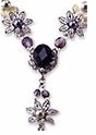 TOHO Necklace Kit- Flower Jet/Amethyst