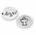 Angel with Symbol Sterling Silver Message Bead