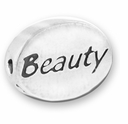 Beauty Sterling Silver Message Bead