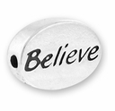 Believe Sterling Silver Message Bead