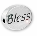 Bless Sterling Silver Message Bead
