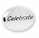 Celebrate Sterling Silver Message Bead