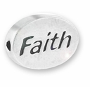 Faith Sterling Silver Message Bead