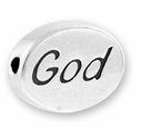 God Sterling Silver Message Bead