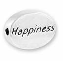 Happiness Sterling Silver Message Bead