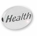 Health Sterling Silver Message Bead