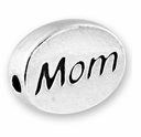 Mom Sterling Silver Message Bead