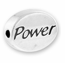 Power Sterling Silver Message Bead