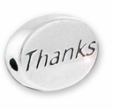 Thanks Sterling Silver Message Bead