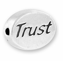 Trust Sterling Silver Message Bead