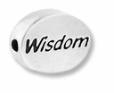 Wisdom Sterling Silver Message Bead