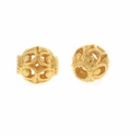 Gold Vermeil Oval Filigree Beads (1 PC)