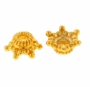 6.5mm Gold Vermeil Star Bead Cap (1PC)