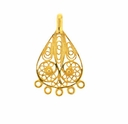 Gold Vermeil Filigree Teardrop Chandelier (1PC)